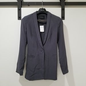Banana Republic Gray Long Travel Blazer - Size 6